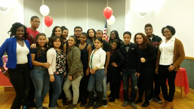 The Red Hook Community Justice Center holds a ceremony for graduating members of the Red Hook Youth Court and celebrates the induction of new members. (January 16, 2015)