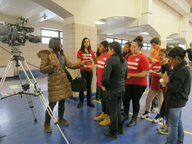 Red Hook Youth Court members are interviewed by Brooklyn's News Channel 12 about their participation in the MLK Day of Service. (January 24, 2012)