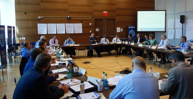 Heads of 14 police peacekeeping missions from around the world come together in New York City with the Center's Director of Training and Technical Assistance Julius Lang and Director of Peacemaking Erika Sasson, who facilitate a three-day strategic planning session for the UN's Department of Peacekeeping Operations. (November 26, 2013)