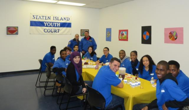 The Staten Island Youth Justice Center holds an open house in their new space, hosting visitors from the NYPD, the Department of Probation, the Law Department, Legal Aid Society, and other partner agencies. (February 7, 2014)