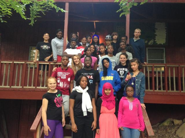 New members of the Youth Justice Board gather at their overnight retreat. Every year, new members of the program participate in the retreat to encourage bonding as a group and commitment to the program. (September 13, 2013)