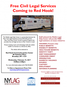 NYLAG Van Returning to Red Hook!