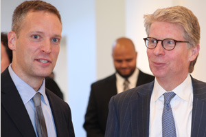 Center Director Greg Berman and Manhattan D.A. Cy Vance Jr.