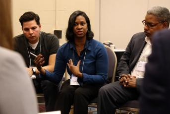 Southwest Detroit Community Justice Center Executive Director Tonya Phillips speaks during a breakout session at the summit.