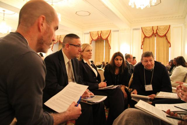 From the Archives: At the Community Justice 2012 summit in Washington D.C., Judge Alex Calabrese (right) of the Red Hook Community Justice Center participates in a small collaborative working group. Register here for Community Justice 2014 in San Francisco. (March 14, 2014)