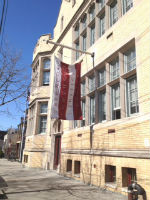 A formerly vacant Catholic school serves as the home for the Red Hook Community Justice Center.