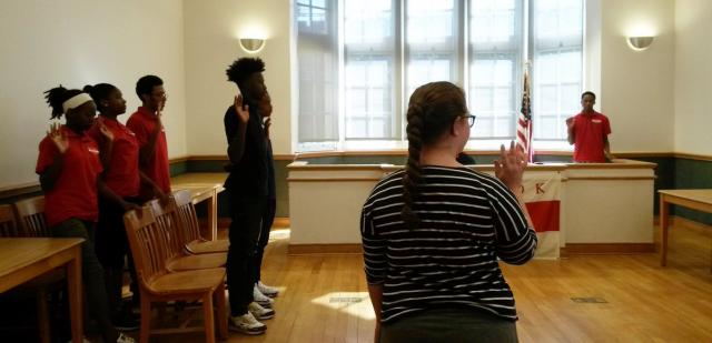 The Red Hook Youth Court, which trains teenagers to handle real-life cases involving their peers, begins a new session. The goal of the court is to use positive peer pressure to ensure that young people who have committed minor offenses restore harm done to the community and receive the help they need to avoid further involvement in the justice system.