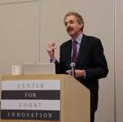 Keynote speaker Los Angeles City Attorney Mike Feuer discusses innovative prosecution strategies.