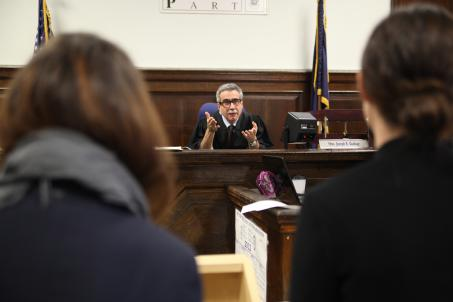 Kings County (N.Y.) Justice Joseph  Gubbay presides over the Brooklyn pilot of the Adolescent Diversion  Program.