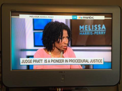 "Judge Victoria Pratt of Newark Community Solutions explains how she uses procedural justice in her courtroom during an appearance on ""The Melissa Harris-Perry Show"" on MSNBC. (July 13, 2015)"