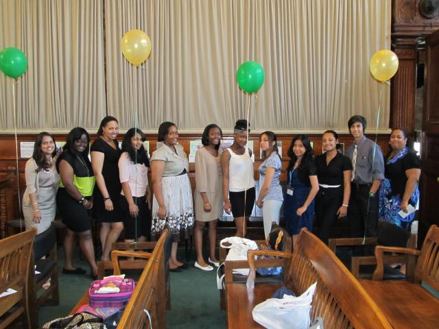 Harlem Community Justice Center celebrates the Harlem Youth Court graduation. (July 3, 2012)