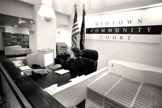 From the archives: Judge Rosalyn H. Richter presides over the Midtown Community Court in 1996. On October 21, 2013, the Midtown Community Court, the first community court, will celebrate 20 years of operation. (August 28, 2013)
