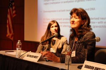 Kathleen West participates in a panel on linking defendants to services at Community Justice 2014.