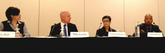 "Mike Lawlor, second from left, who is Connecticut's under secretary for Criminal Justice Policy and Planning, participates in a panel on ""Jail Reduction and Public Safety"" at Community Justice 2016."