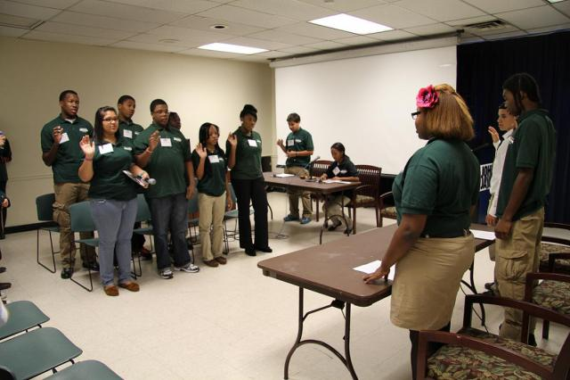 To teach teachers about youth courts, the Greenpoint Youth Court holds a mock hearing at the first of two symposiums about using this peer-based approach to discipline in schools. (October 24, 2012)