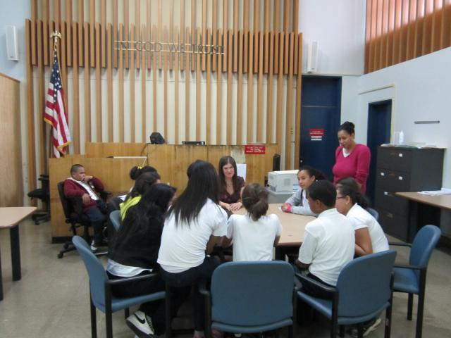 In celebration of Law Day, Bronx Community Solutions gave over 100 Bronx youth an opportunity to participate in discussions with court officers, attorneys, and judges. (May 16,2012)