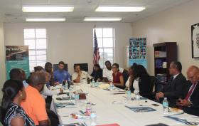 Representatives from law enforcement, public health agencies, and community-based organizations gather for the PATHWAY Key Partners Forum in July 2015.