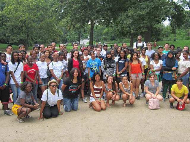 Members from our youth courts across the city get together for a day of fun in Central Park. (August 30, 2012)