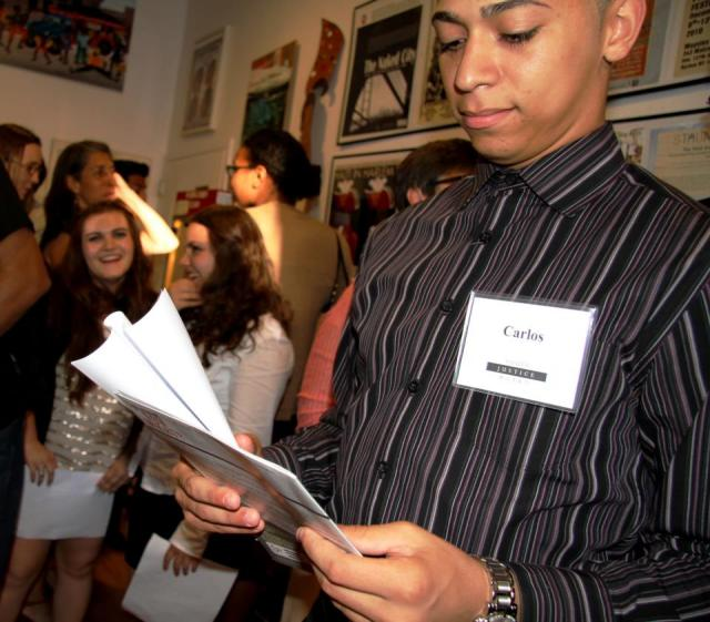 Members of the Youth Justice Board attend the premiere in Harlem of their video, Talking It Through: A Teen-Police Dialogue. (June 29, 2012)