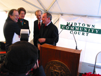 New York City Mayor Michael Bloomberg at the Midtown Community Court's 10th Anniversary.