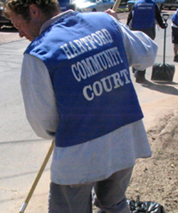 Community service in Hartford.