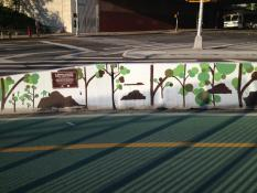 Mural on Columbia Street, preparation for which was done by Justice Center community service crew