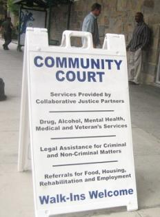The Orange County Community Court encourages walk-in visitors to access services.