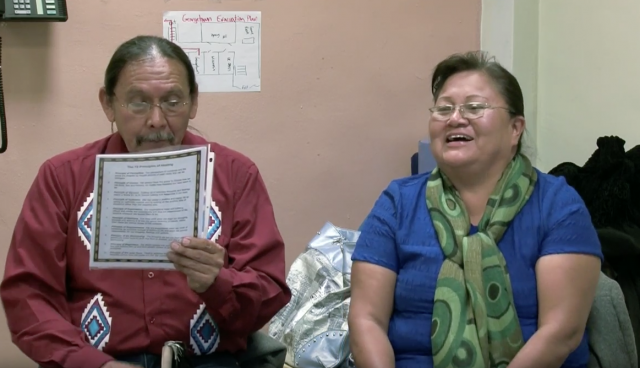 From the archives: Raymond Deal and Gloria Benally, Navajo Nation peacemakers, train community volunteers at the Red Hook Peacemaking Program.