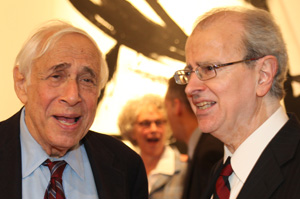 Herb Sturz of the Open Society Institute and Chief Judge Jonathan Lippman.