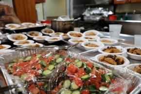 Food served at St. Paul and St. Andrew United Methodist Church