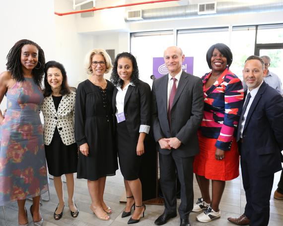 New York State Chief Judge Janet DiFiore visits Legal Hand Brownsville for an open house event