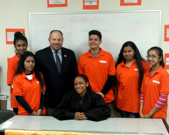 Councilman Rory Lancman visits  the Queens Youth Court