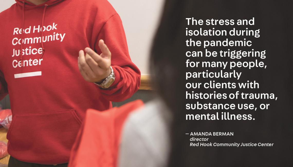 Quote by Amanda Berman, Red Hook Justice Center
