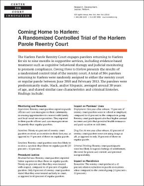 Coming Home to Harlem Fact Sheet