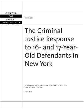 Criminal Justice Response to 16- and 17-Year Old Defendants in NY