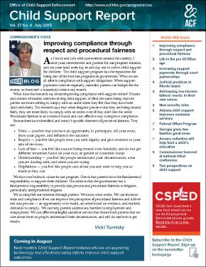 Child Support Report: Improving Compliance
