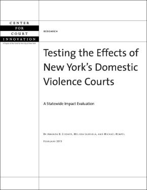 Testing the Effects of NY's Domestic Violence Courts