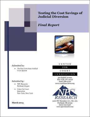 Testing the Cost Savings of Judicial Diversion