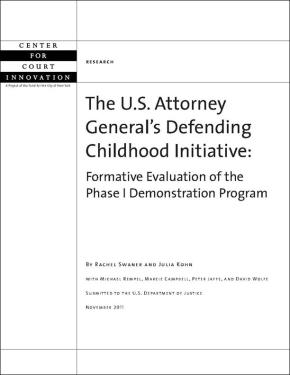 US Attorney General's Defending Childhood Initiative