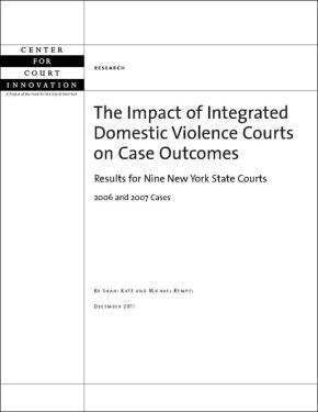 Impact of Integrated Domestic Violence Courts on Case Outcomes