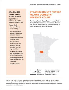 Domestic Violence Mentor Court Fact Sheet: Stearns County, Minnesota Cover