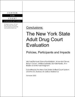 NYS Adult Drug Court Evaluation