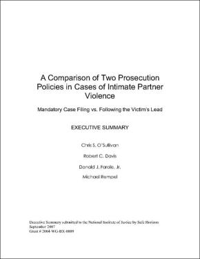 Comparison of Two Prosecution Policies: Executive Summary