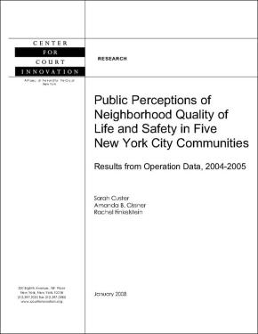 Public Perceptions of Neighborhood Quality of Life and Safety