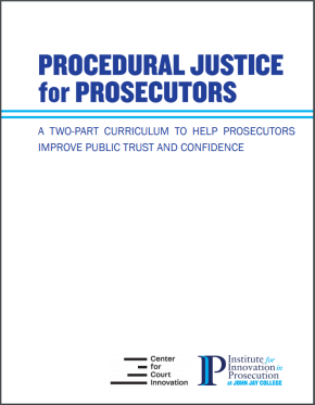 "Front cover of ""Procedural Justice for Prosecutors"""