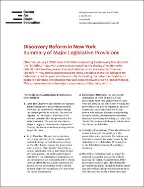 Discovery Reform in New York Cover