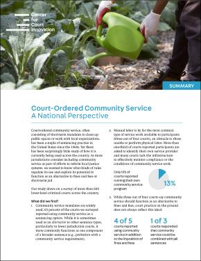 Community Service Report Summary Cover