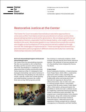 Restorative Justice at the Center factsheet COVER