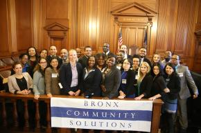 The staff of Bronx Community Solutions.