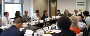 Roundtable participants convene at the Center for Court Innovation in New York City.